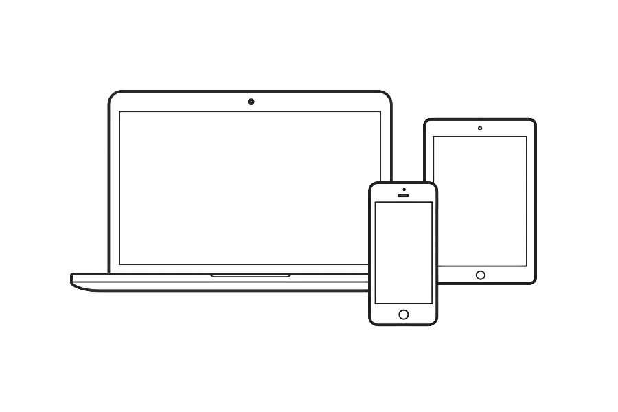 apple device outline