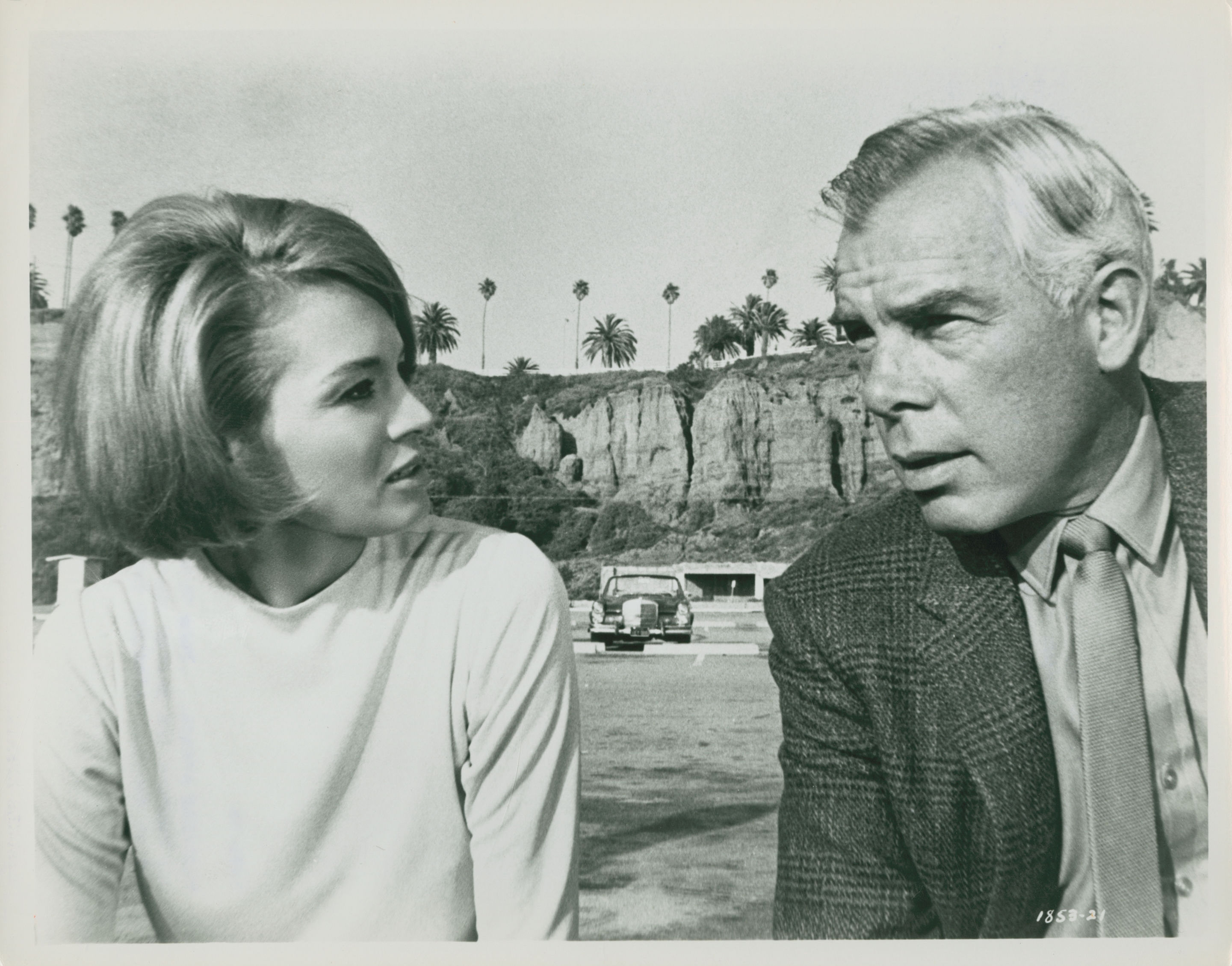 Angie Dickinson and Lee Marvin in Point Blank