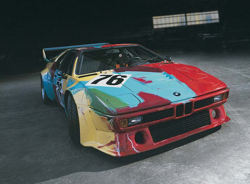 warhol bmw m1 Inspiring art car
