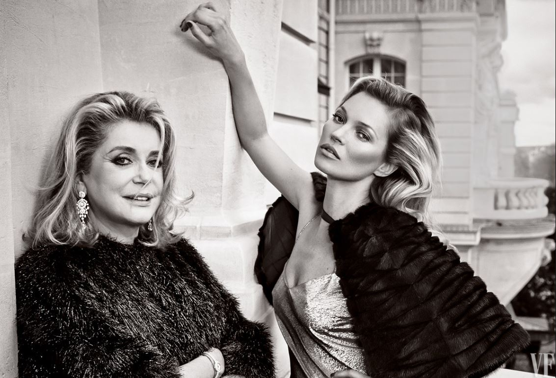 Catherine Deneuve & Kate Moss for Vanity Fair by Annie Leibovitz