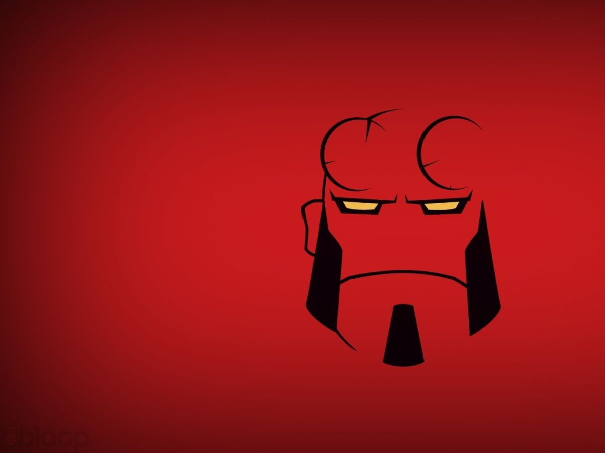 hellboy wallpaper red