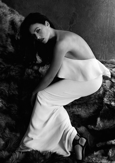 """Monica Bellucci posing for the premiere of """"Me and Napoleon"""""""