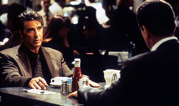 HEAT the restaurant scene with robert de niro & al pacino