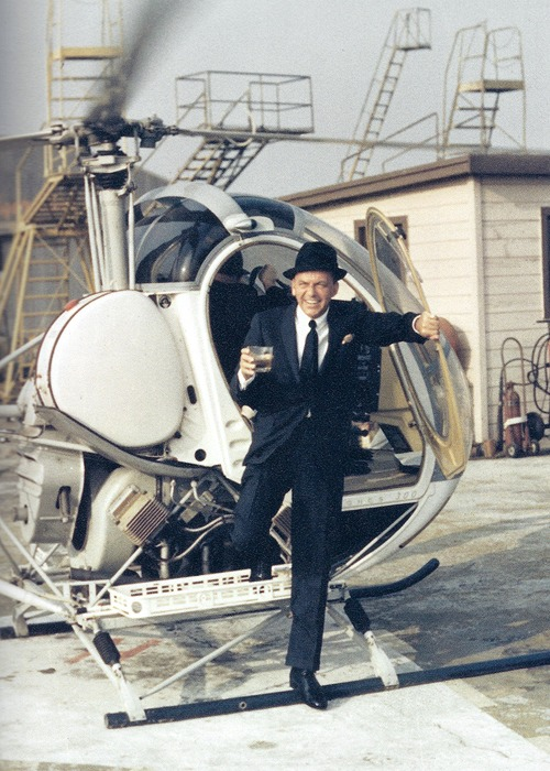Frank Sinatra helicopter landing