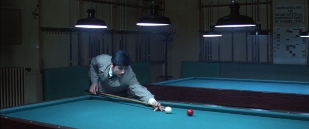 Melville: Le Cercle Rouge Alain delon playing pool