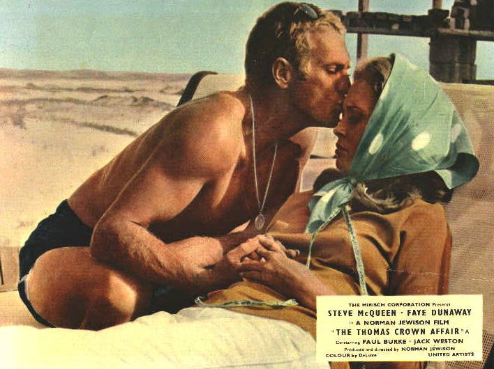 steve mcqueen & faye dunaway in thomas crown affair theatrical poster