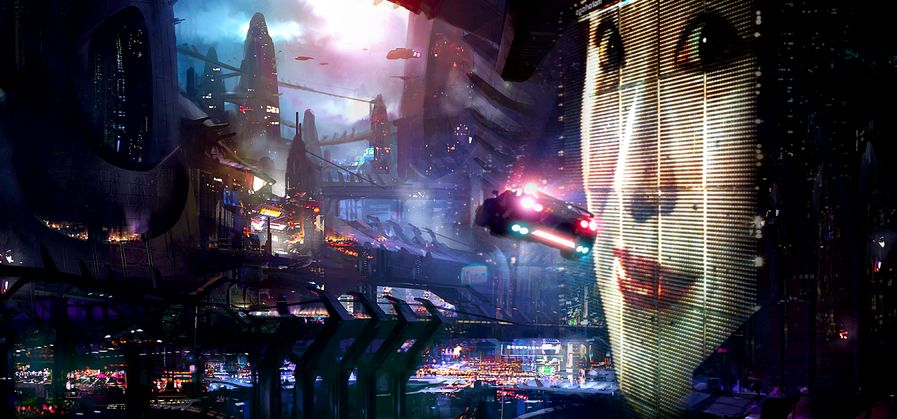 The dystopian themes explored in Blade Runner are a cyberpunk concept