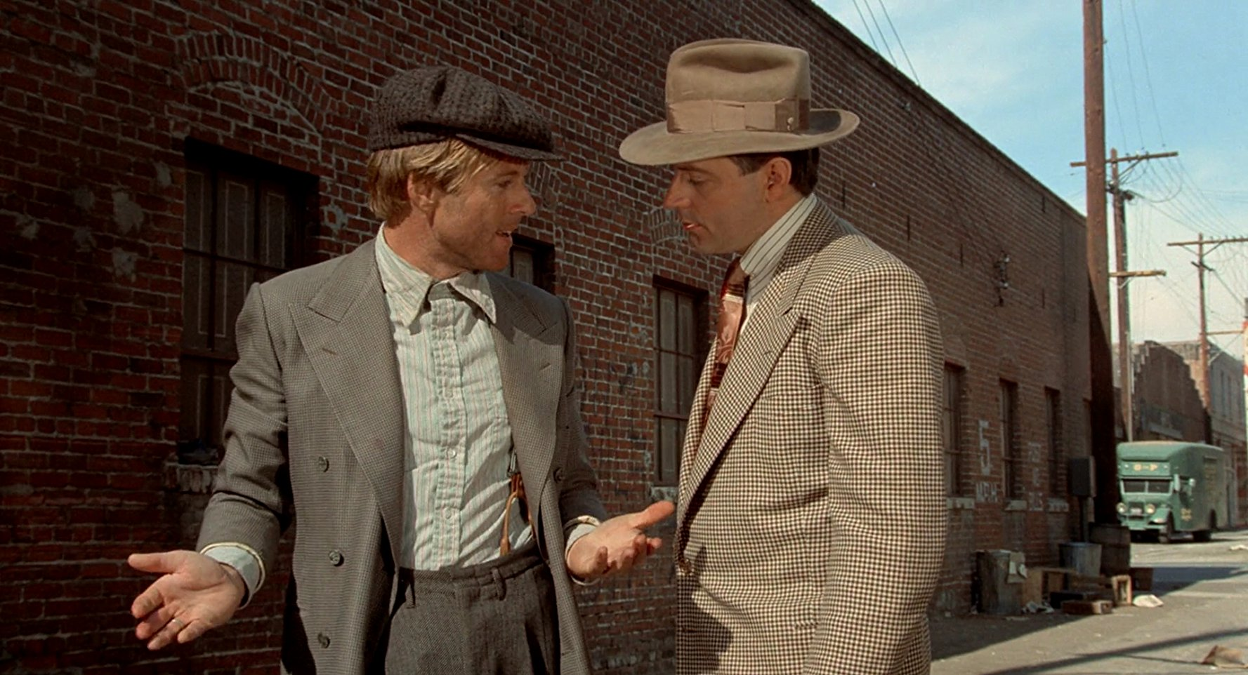 Robert Redford and James Sloyan in The Sting (1973)