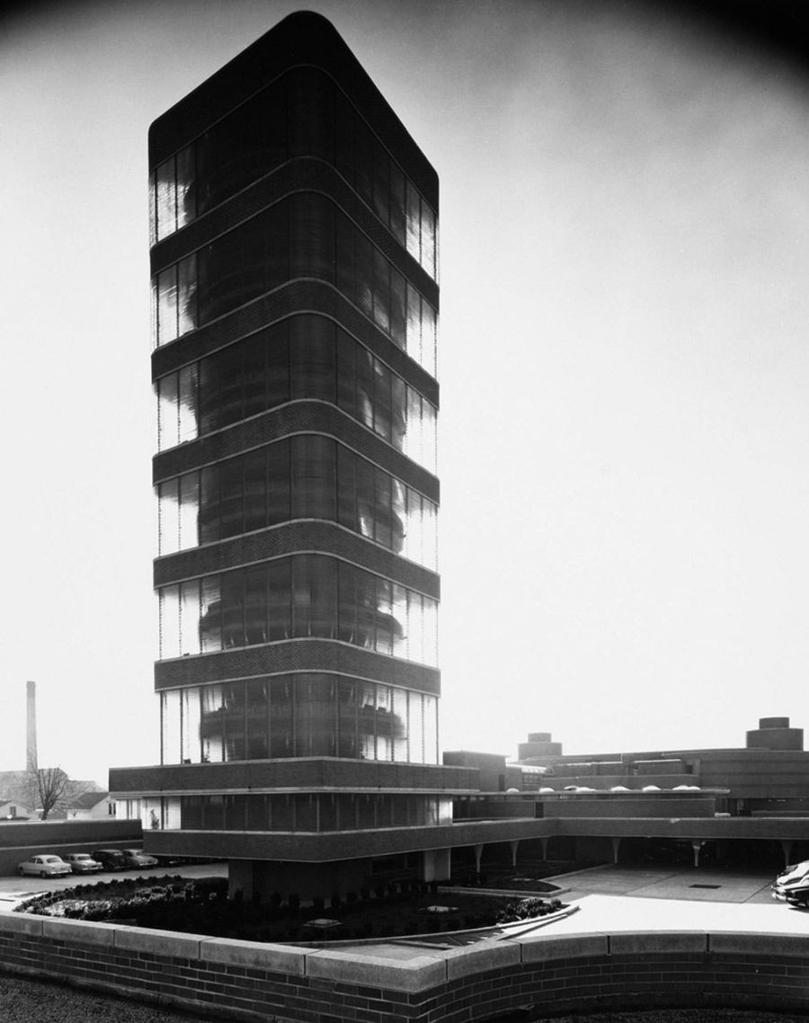 Johnson Wax Tower, Frank Lloyd Wright,  Racine, Wisconsin, 1950