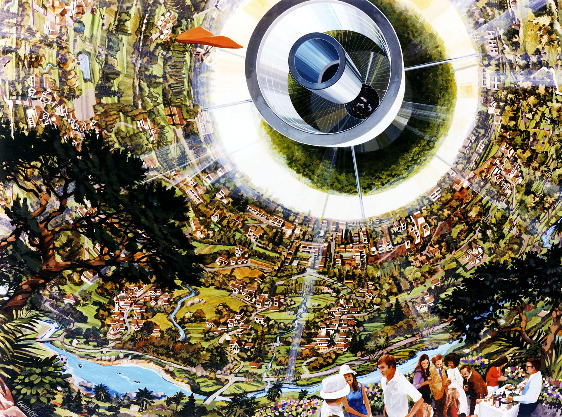 Psychedelic Space Station Concept 1970s