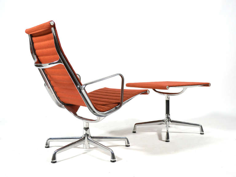 Eames Aluminum Group Lounge Chair and Ottoman