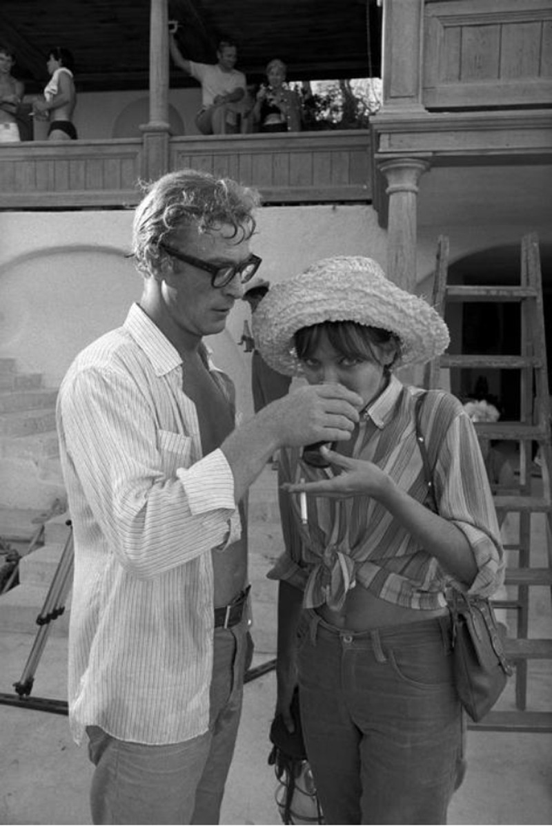 Anna Karina with Michael Caine