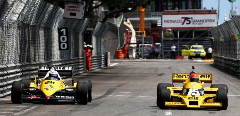 Renault and Elf celebrating 40 years in F1 at Monaco