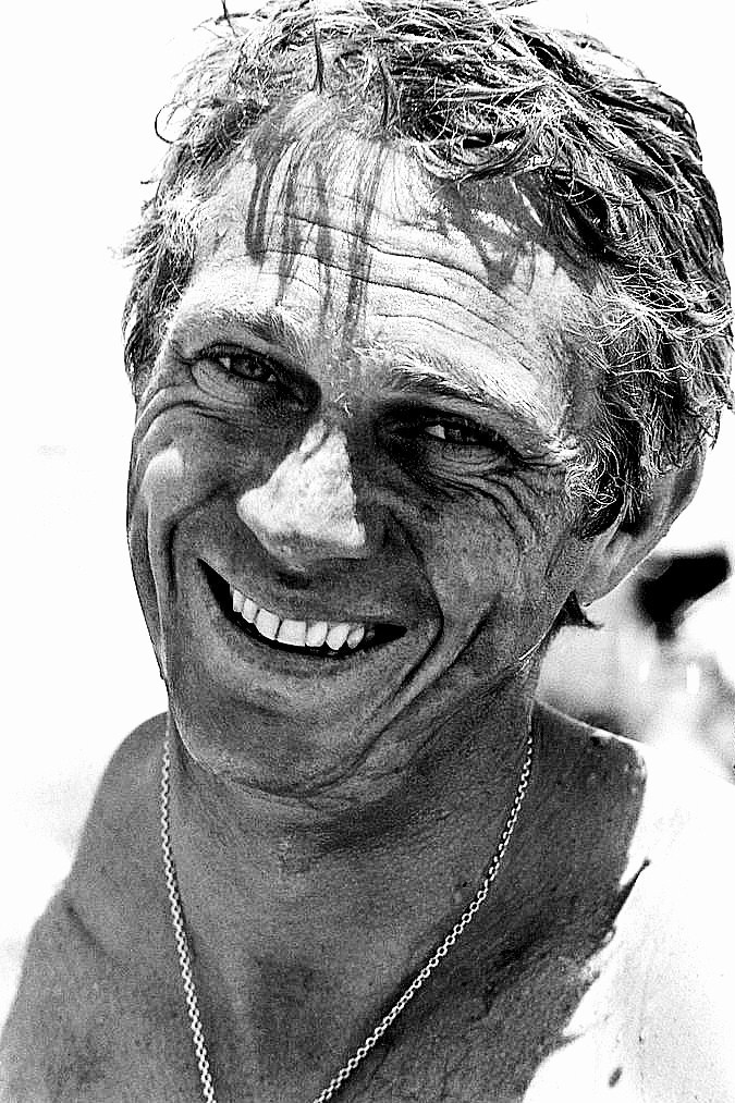 Close-up of American actor Steve McQueen (1930 – 1980) as he smiles