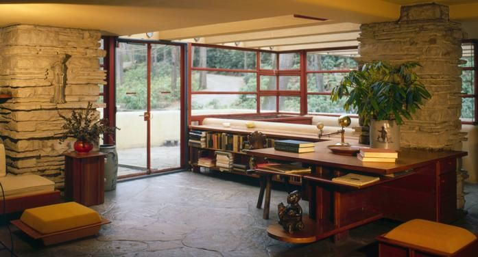 Frank Lloyd Wright's Falling Water interior 2