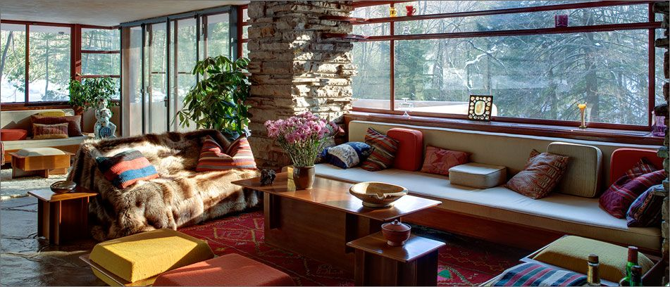 Frank Lloyd Wright's Falling Water interior