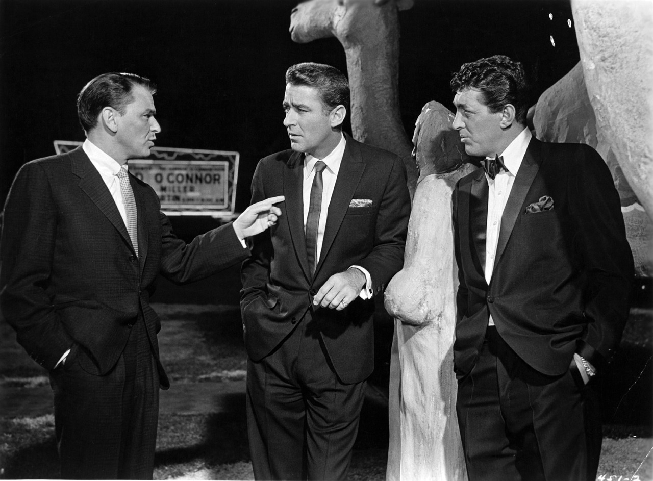Frank Sinatra, Peter Lawford, and Dean Martin