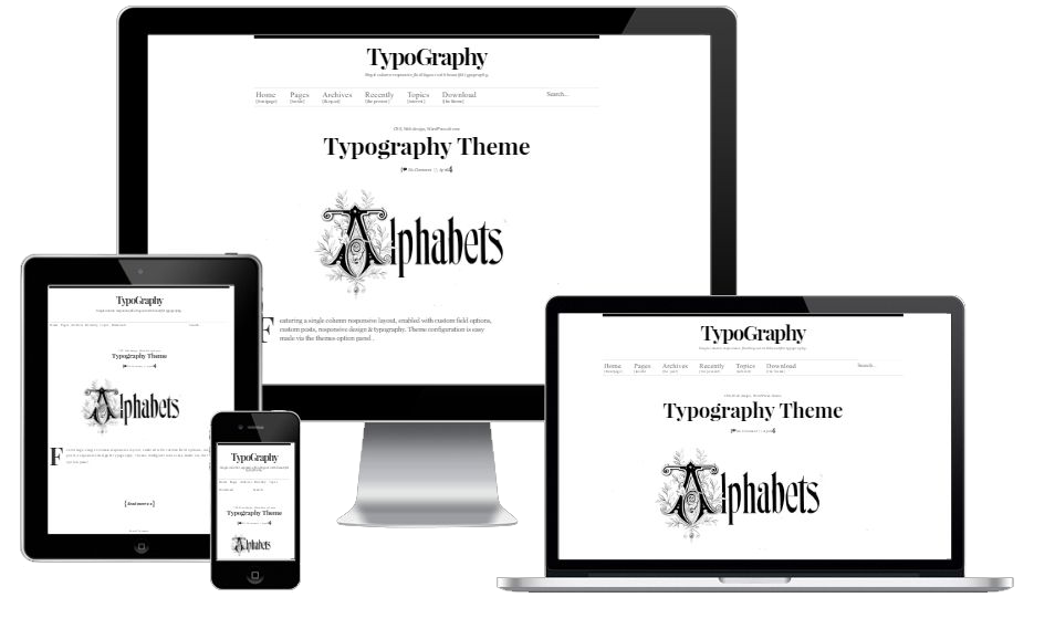 Typography wordpress Theme