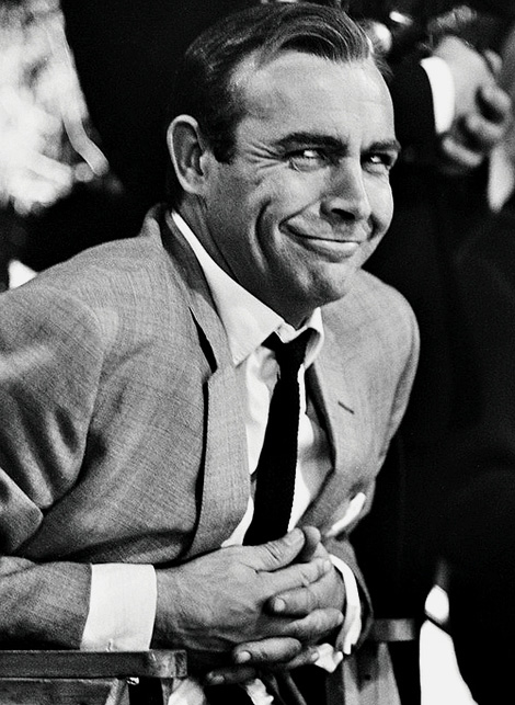 007 Sean Connery in grey 3 piece suit