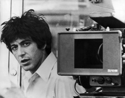 Al Pacino on the set of Dog Day Afternoon