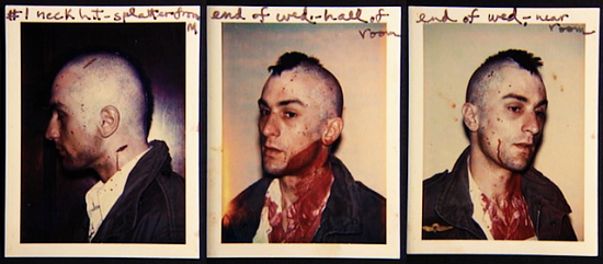 Behind the Scenes Polaroids from Taxi driver
