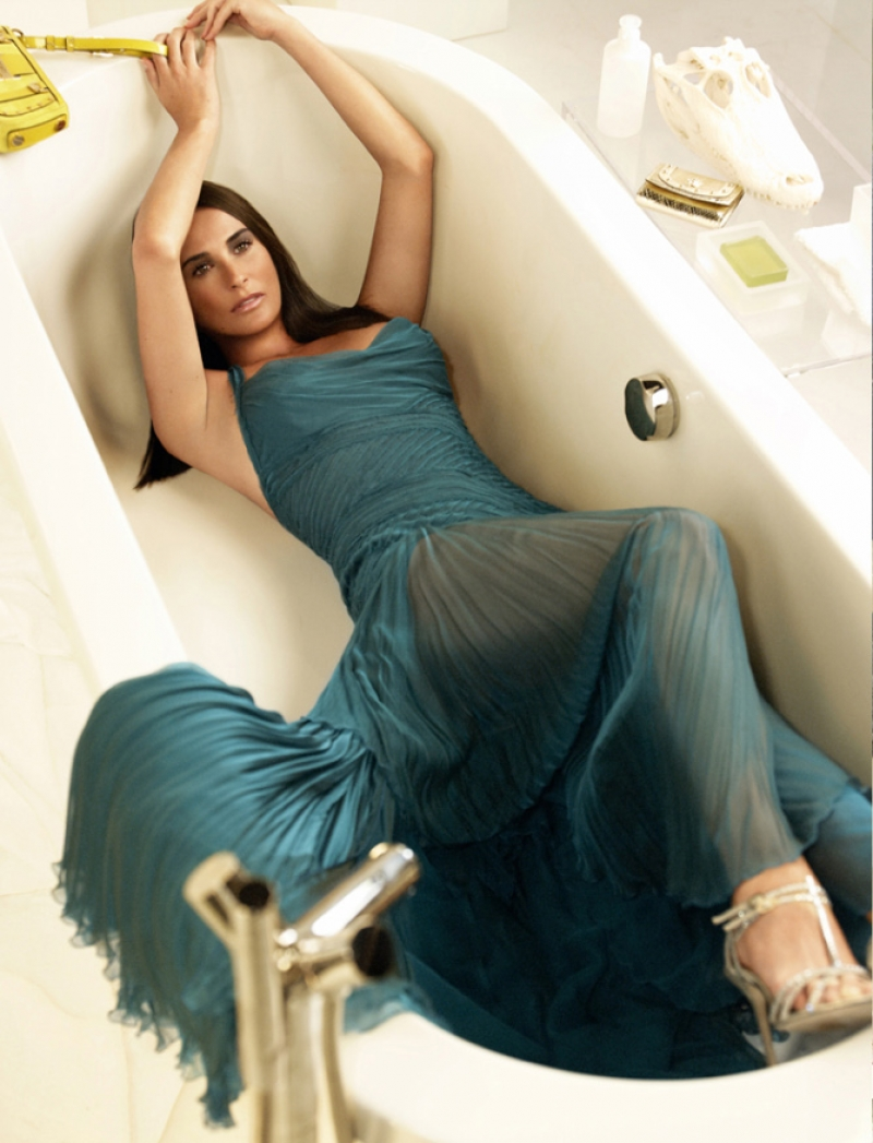 Demi Moore by Mario Testino for Versace