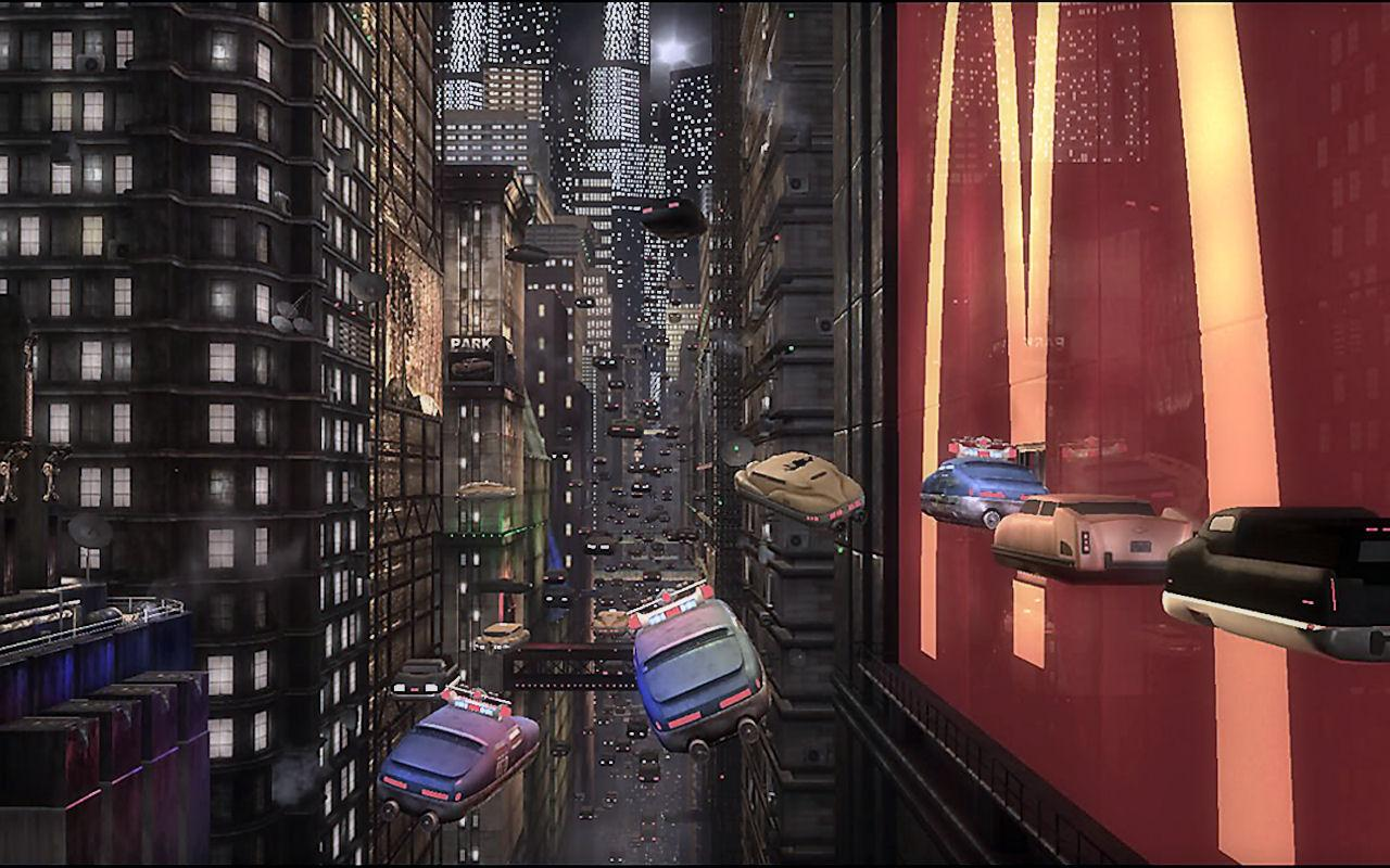 The Fifth Element police cars flying