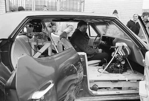 Gene Hackman behind the scenes of The French Connection (1971)