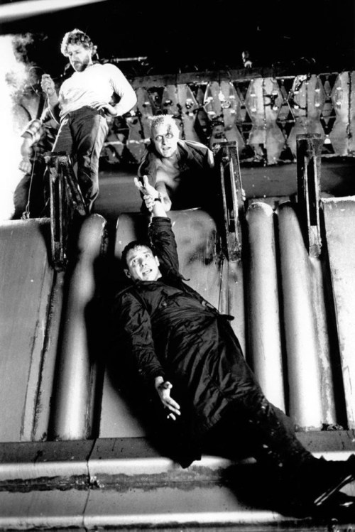 Harrison Ford On the set of Blade Runner