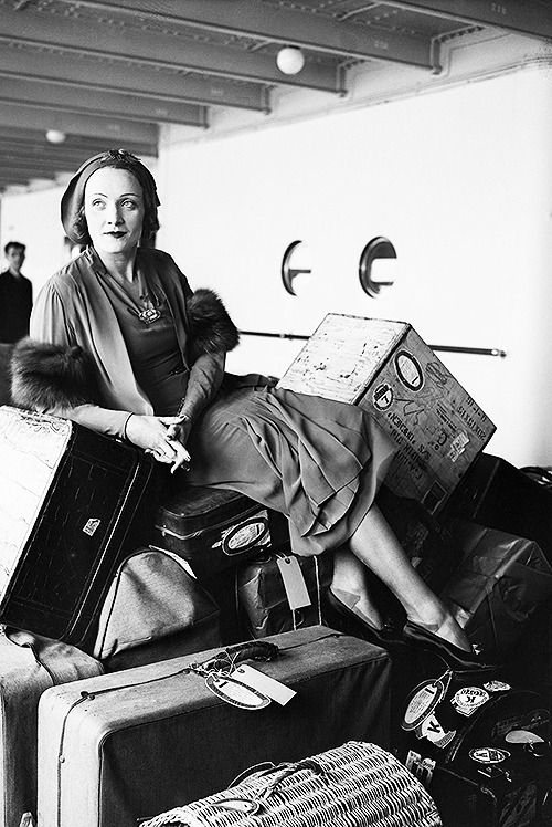 Marlene Dietrich returning from Germany on the S.S. Bremen, 1931