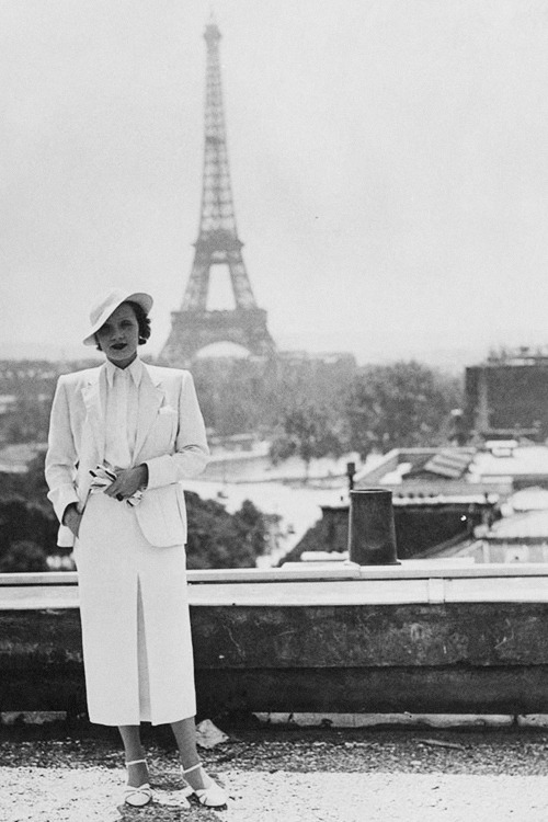 Marlene Dietrich visiting Paris