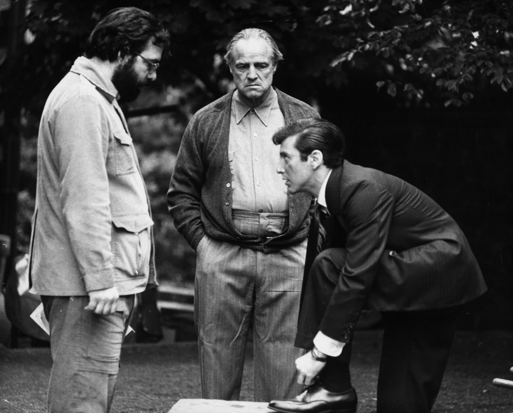 Marlon Brando, Al Pacino, and Francis Ford Coppola
