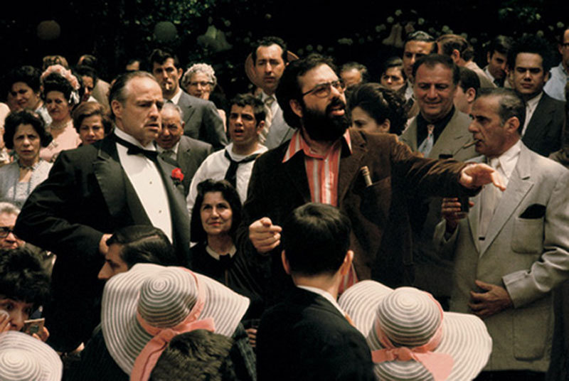 Francis ford coppola directs Marlon Brando in The Godfather 1972