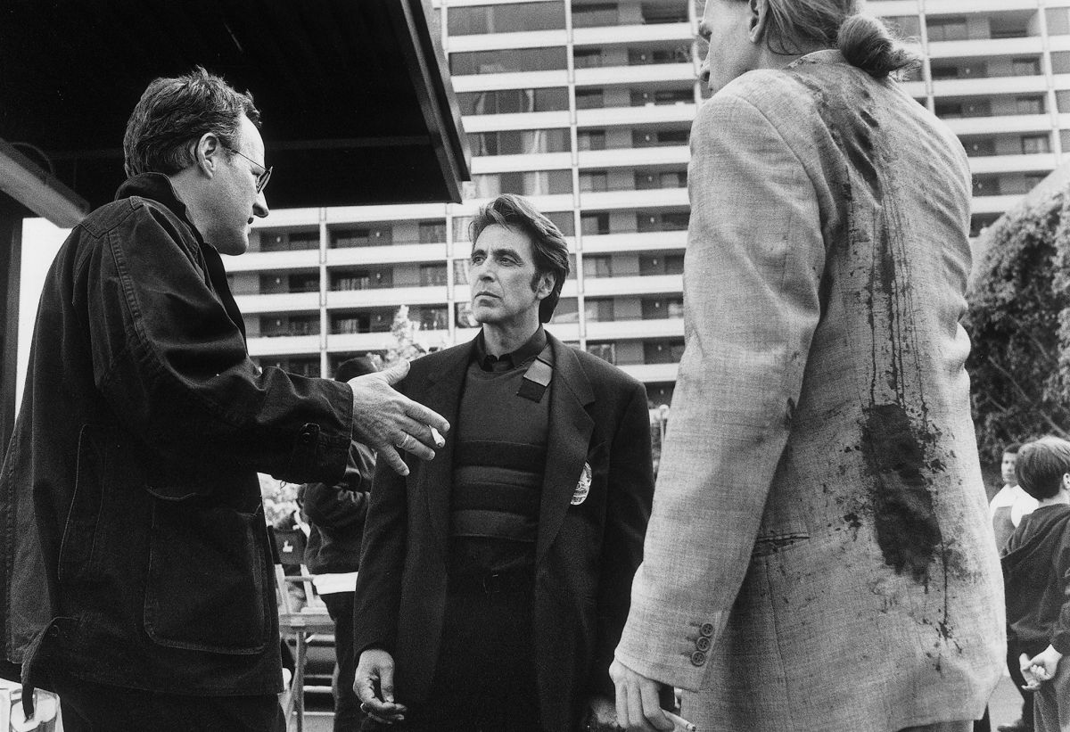 Michael Mann with Al Pacino & Val Kilmer in Heat