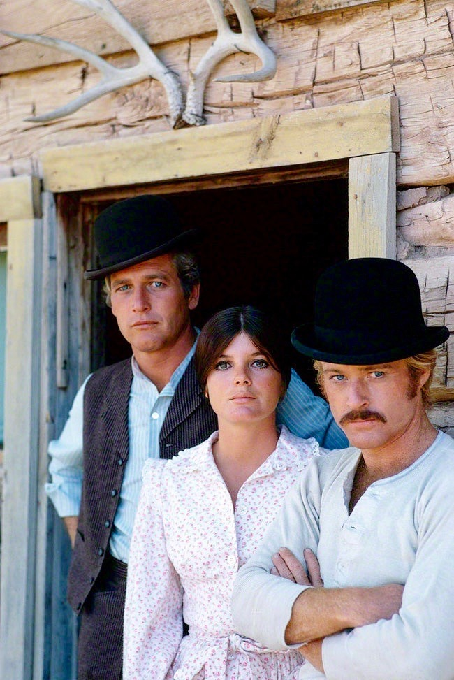 Paul Newman, Katharine Ross and Robert Redford in Butch Cassidy and Sundance Kid