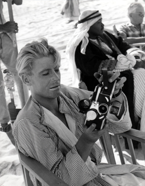 "Peter O'Toole on the set of ""Lawrence of Arabia"""