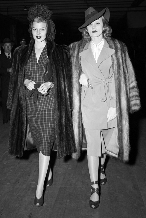 Rita Hayworth and Marlene Dietrich, 1940s