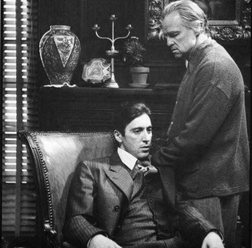 The Godfather with Al Pacino and Marlon Brando