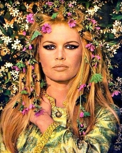 Brigitte Bardot 1967 With Flowers In Hair Brigitte Bardot Milo 3oneseven