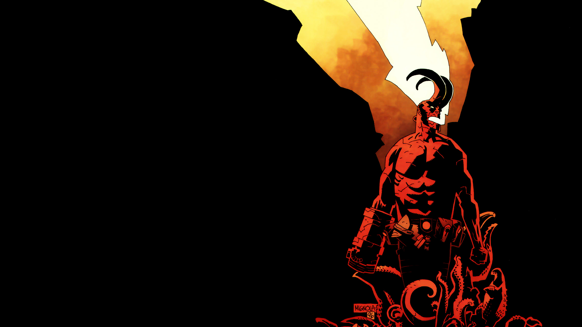 Hellboy  is a fictional superhero created by writer-artist Mike Mignola
