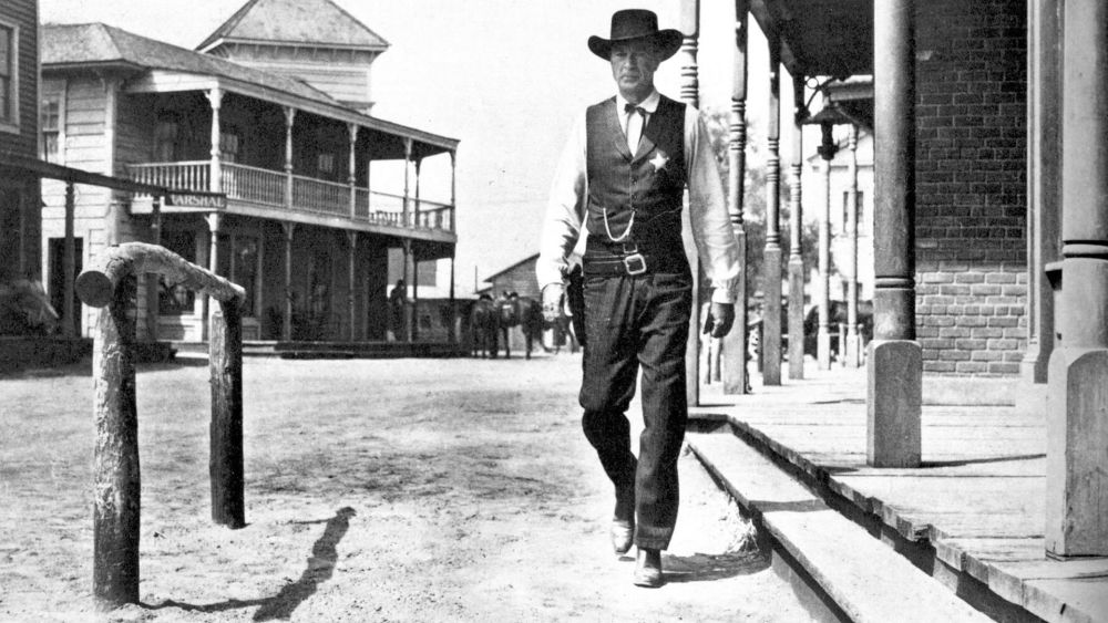 High noon by Fred Zinnemann with Gary Cooper