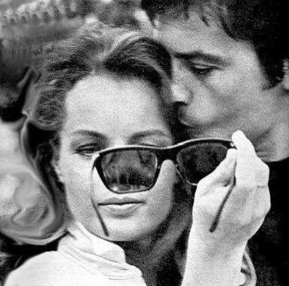 romy schneider et alain delon in paris