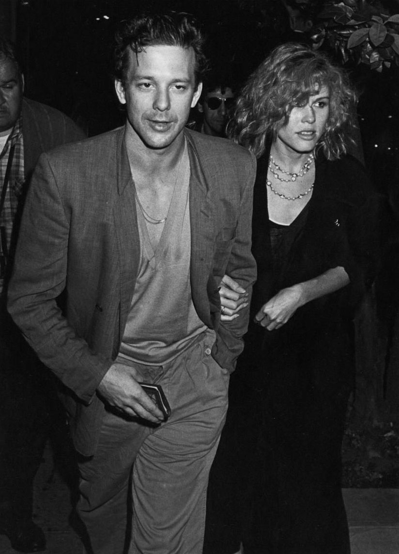 Mickey Rourke and first wife Debra Feuer