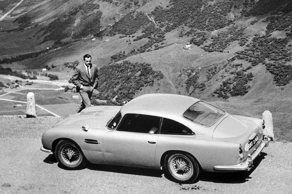sean connery in goldfinger with aston martin db5
