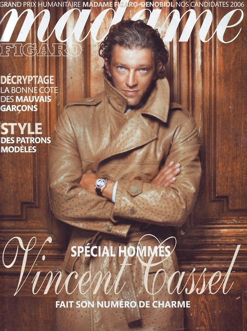 vincent cassel cover madame figaro