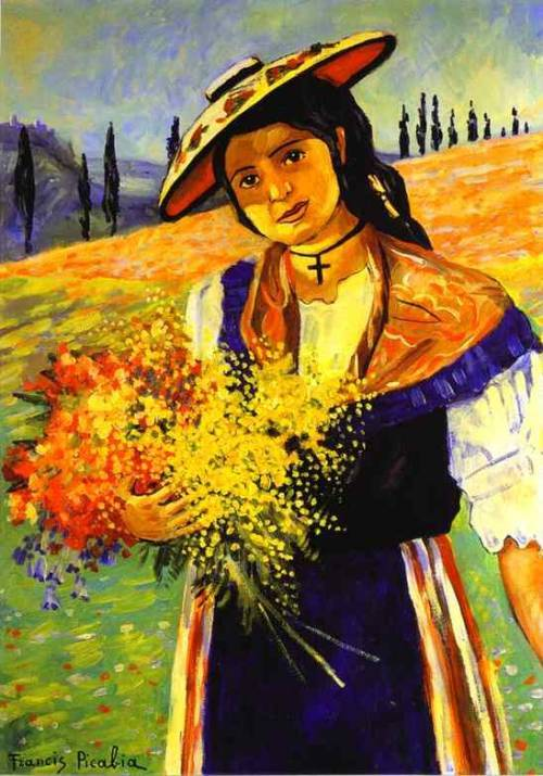 Young Girl with Flowers, Francis Picabia