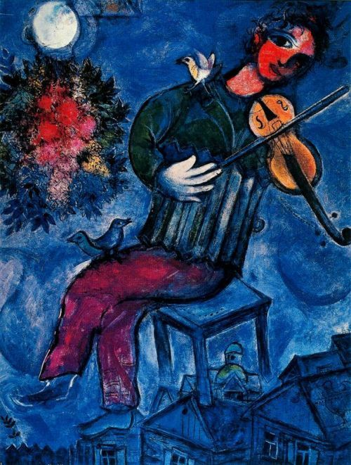 Marc chagall     The blue fiddler