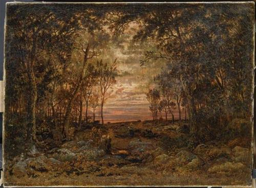 Sunset in the forest, 1866 – Theodore Rousseau