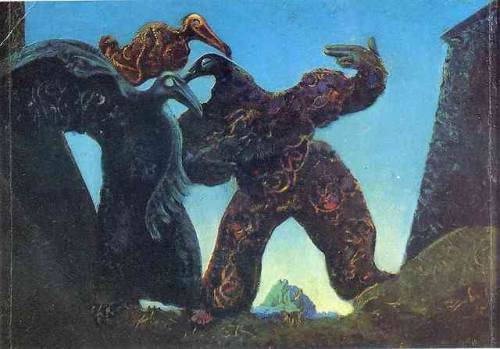 Barbarians Marching to the West, Max Ernst