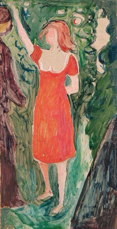 Edvard Munch  Woman in a Red Dress, 1927-30 Oil on Canvas